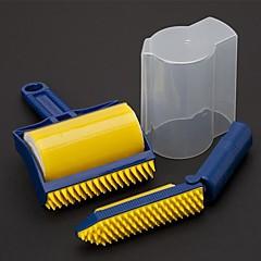 お買い得  キッチン清掃用品-再利用可能な洗える粘着性ローラクリーナ20x11x5cm