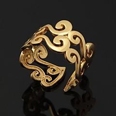 voordelige Damessieraden-Dames Ringen voor stelletjes Statement Ring Bandring Open Verstelbaar Platina Verguld Verguld Kostuum juwelen Bruiloft Feest Dagelijks