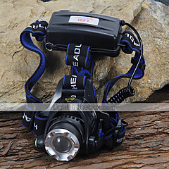 Headlamps Headlight LED 1200 lm 3 Mode Cree XM-L T6 for Camping/Hiking/Caving Cycling/Bike Climbing Batteries not included Black