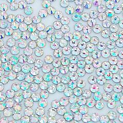 abordables Joyas de Uñas-1400pcs 2.5mm decoración cristalina brillo ab nail art rhinestone