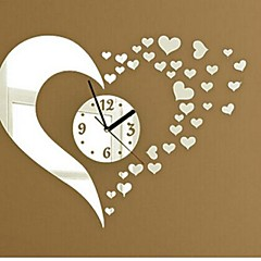 저렴한 -Wall Clock Stickers Wall Decals, Fashion 3D Heart Mirror Acrylic Wall Stickers