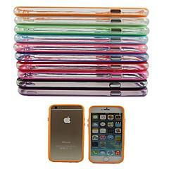 Недорогие Кейсы для iPhone 6-Кейс для Назначение Apple iPhone 6 Plus / iPhone 6 Защита от удара Бампер Однотонный Твердый ПК для iPhone 6s Plus / iPhone 6s / iPhone 6 Plus