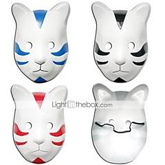 halpa Anime Cosplay-Mask Innoittamana Naruto Cosplay Anime Cosplay-Tarvikkeet Mask Musta / Punainen / Sininen PVC Uros / Naaras