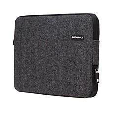 gearmax® caso de la cubierta de la manga del ordenador portátil negro para el aire del macbook / pro