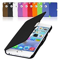 Для Кейс для iPhone 6 / Кейс для iPhone 6 Plus Флип / Магнитный Кейс для Чехол Кейс для Один цвет Твердый Искусственная кожаiPhone 6s