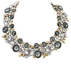 お買い得  ネックレス-女性用 ビブネックレス ステートメントネックレス  -  欧風 ブラック, ブルー, 虹色 ネックレス ジュエリー 用途