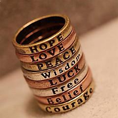 anillo de letra mínimo deseo retro de Europa y América de la mujer (color al azar)
