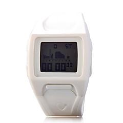 preiswerte Damenuhren-Damen Armbanduhr / Digitaluhr Sportuhr PU Band Charme / Modisch Schwarz / Weiß / Blau