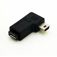 kątowe 90 stopni Mini USB męski na Micro USB Adapter Przedłużacz kobiece Przelicznik Darmowa wysyłka złącza kabla