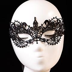voordelige Halloween cosplay-Carnaval Masker Unisex Halloween Festival / Feestdagen Halloweenkostuums Zwart Effen Kant