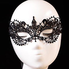 hesapli -Cosplay Maske Unisex Cadılar Bayramı Festival / Tatil Cadılar Bayramı Kostümleri Siyah Solid Dantel