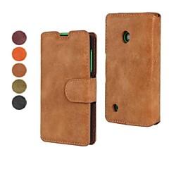 إلى نوكيا حالة محفظة / حامل البطاقات / مع حامل غطاء كامل الجسم غطاء لون صلب قاسي جلد اصطناعي Nokia Nokia Lumia 530