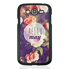 お買い得  Samsung その他の機種用ケース/カバー-のために Samsung Galaxy ケース パターン ケース バックカバー ケース ワード/文章 PC Samsung Grand
