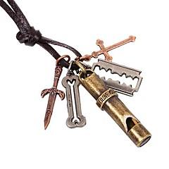 старинные свисток Pandent спрятать канатные мужские ожерелья (1шт)