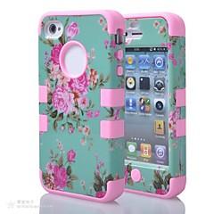 Недорогие Кейсы для iPhone 4s / 4-Кейс для Назначение iPhone 4/4S Apple Чехол Мягкий Силикон для iPhone 4s/4