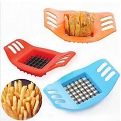 tocator de cartofi de cartofi de creatie masina de debitat bar tăiat cartofi / cartofi prajiti instrument de culoare albastru