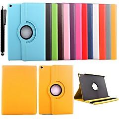 voordelige iPad Air 2 hoesjes-hoesje Voor iPad Air 2 met standaard 360° rotatie Volledig hoesje Effen Kleur PU-nahka voor iPad Air 2