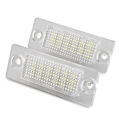 2 pcs White 18 LED 3528 SMD Number License Plate Lights Lamp for VW Passat B5