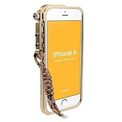 Для Кейс для iPhone 6 / Кейс для iPhone 6 Plus С узором Кейс для Бампер Кейс для Один цвет Твердый МеталлiPhone 6s Plus/6 Plus / iPhone