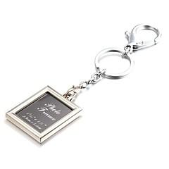 carré selfie photo alliage album de zinc porte-clés (10 premiers clients avec boîte ajoutées)
