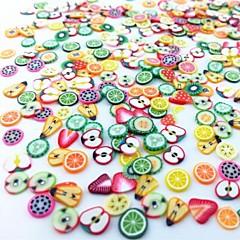 300pcs karışık stil fimo dilim meyve dizi tırnak sanat dekorasyon