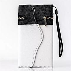 fekete-fehér pénztárca műbőr kártyával solt iPhone 6