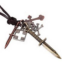 Недорогие Ожерелья-Ожерелья с подвесками Кожа Сплав Ожерелья с подвесками , Повседневные