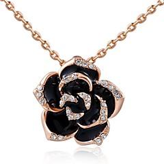 preiswerte Halsketten-Damen Kristall Anhängerketten - Krystall Rosen, Blume damas, Modisch Silber, Golden Modische Halsketten Schmuck Für Hochzeit, Party, Alltag, Normal