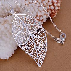 Hangers Strass Leaf Shape zilver 1