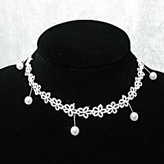 handmade elegante lolita doce mini-branco colar de flores