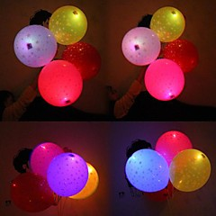 billige Balloner-Coway Stars Light Up Balloon Filled With Printed Star LED Printing Balloon(Random Color)