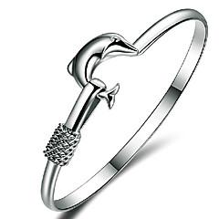 Dame Brățări Bangle Prietenie Ajustabile Deschis costum de bijuterii Plastic Animal Shape Dolphin Bijuterii Pentru Nuntă Petrecere