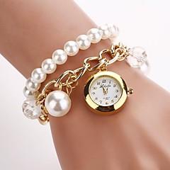 Per donna Orologio alla moda Orologio braccialetto Quarzo Lega Banda Pieghe Bianco Oro