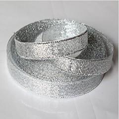 25 de metri 12mm aur mare sau sclipici de argint panglica stralucitoare, nunta glitter DIY panglică strălucitoare