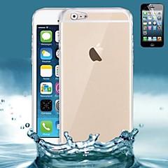 economico Offerte della settimana Accessori Apple-Custodia Per Apple iPhone 6 iPhone 6 Plus Ultra sottile Transparente Per retro Tinta unica Morbido Silicone per iPhone 6s Plus iPhone 6s