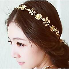 Alloy Headband,Floral Basic Flowers Winter Spring Summer Fall Golden