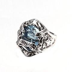 Męskie Duże pierścionki Modny Syntetyczne kamienie szlachetne Kryształ Stop Biżuteria Na Impreza Codzienny Casual Prezenty