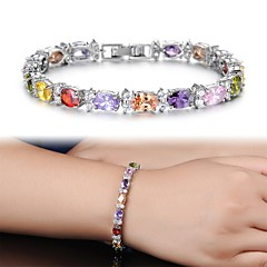 AAA Zircon Fine Plating Platinum Diamond Bracelet Christmas Gifts