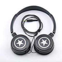MP3 /携帯電話/ PCのための耳の上spc06星ロゴステレオヘッドフォン3.5ミリメートルジャック