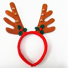 karácsonyi party aranyos szarvas agancs kalap harangok haj fejpánt