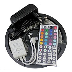 abordables LED e Iluminación-5 m Tiras LED Flexibles / Sets de Luces / Tiras de Luces RGB LED 3528 SMD RGB Control remoto / Cortable / Regulable 100-240 V / Conectable / Auto-Adhesivas / Color variable / IP44