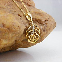 Women's Pendants Leaf Gold Plated Alloy Basic Fashion Elegant Jewelry For Dailywear Date