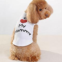 abordables Accesorios Mascota-Perro Camiseta Ropa para Perro Letra y Número Blanco Algodón Disfraz Para mascotas