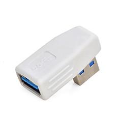 preiswerte Kabel & Adapter-rechten Winkel USB 3.0 männlich zu weiblich Adapter - Weiss