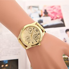 preiswerte Tolle Angebote auf Uhren-Damen Armbanduhr Quartz Armbanduhren für den Alltag Cool Legierung Band Analog Eiffelturm Modisch Gold