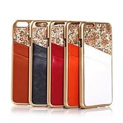 Для Кейс для iPhone 6 / Кейс для iPhone 6 Plus Бумажник для карт / Покрытие Кейс для Задняя крышка Кейс для Цветы Твердый Натуральная кожа
