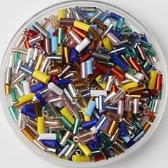 350pcs πολύχρωμες χάντρες σωλήνα γυάλινο πόνυ 2 χιλιοστά DIY χειροποίητα σκάφη αξεσουάρ υλικό / ένδυσης