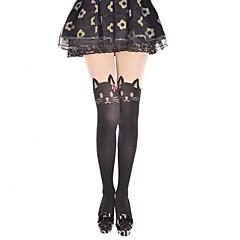Sokker og Nylonstrømpe Sød Lolita Cosplay Lolita Kjoler Trykt mønster Dyremønster Strømper Til