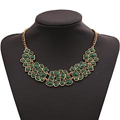 abordables Promoción PayPal-Mujer Lujo Joyería Destacada Collares Declaración Piedras preciosas sintéticas Legierung Collares Declaración ,