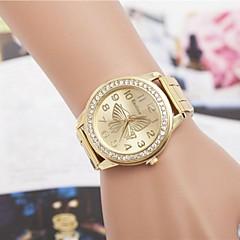 Mulheres Relógio de Moda Quartzo Lega Banda Borboleta Prata Dourada Ouro Rose